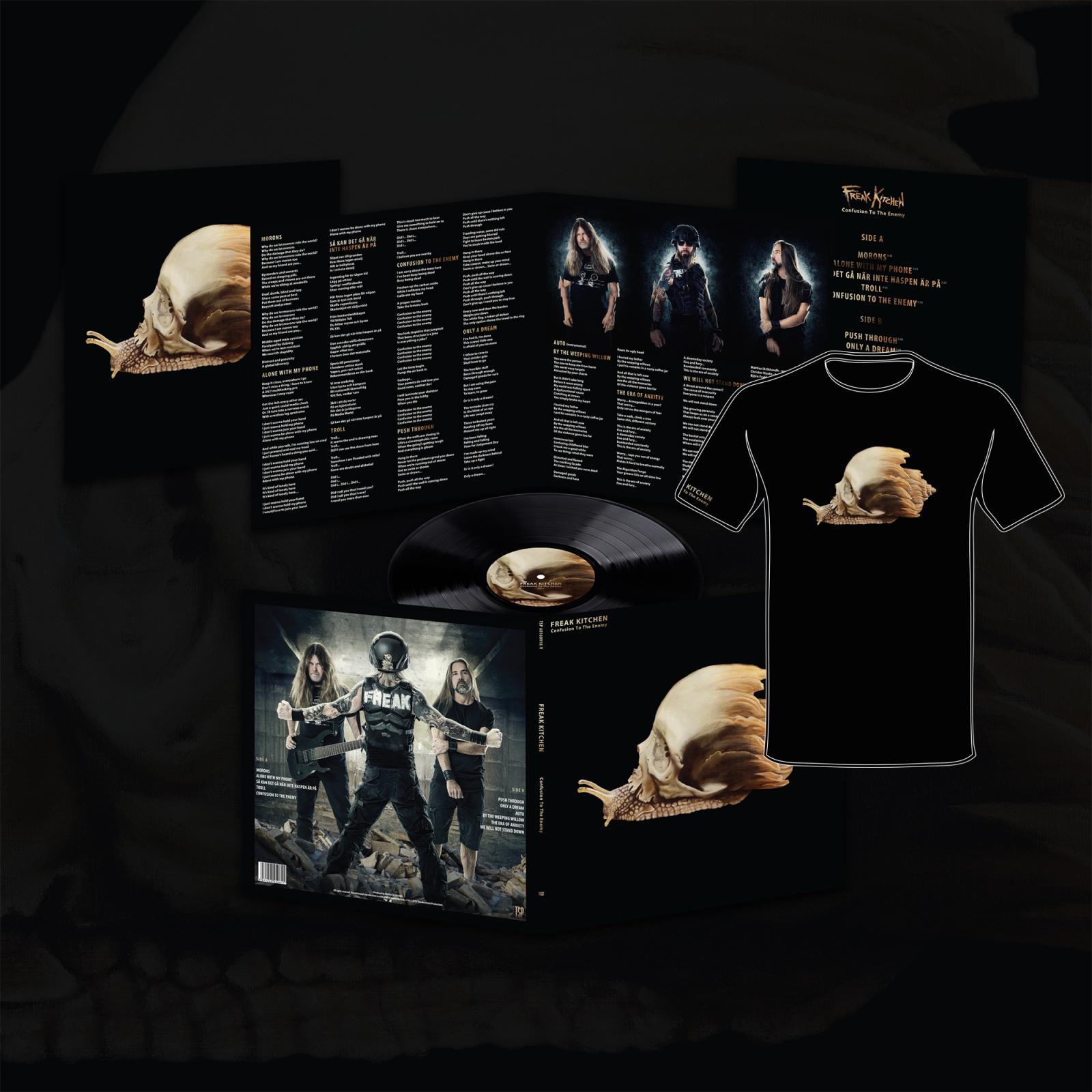 Vinyl LP and T-shirt