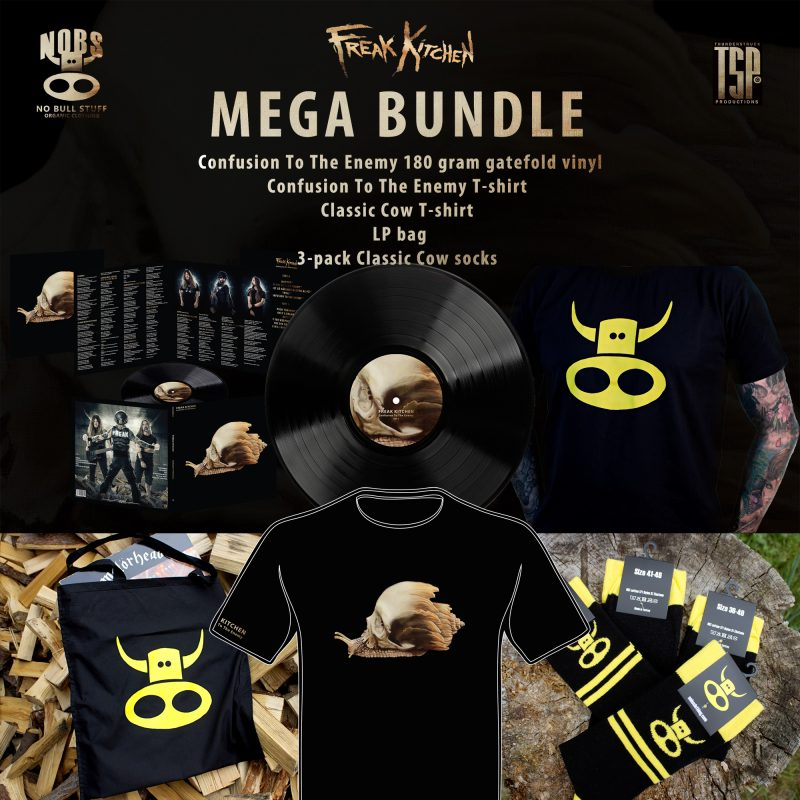 Mega Bundle with vinyl, 2 shirts, socks and a bag